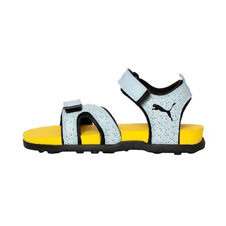 Techno Cat GU PS IDP Kid's Sandals, CERULEAN-Black-SpectraYellow, small-IND