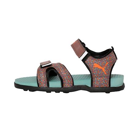 Techno Cat GU PS IDP Kid's Sandals, Peppercorn-Aquifer-Black, small-IND