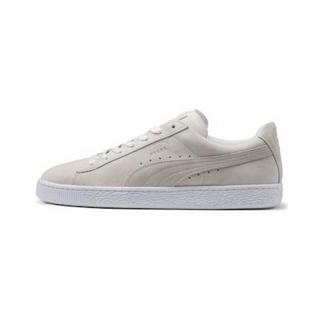 Suede Classic White Sneakers, Puma White-Puma White, small