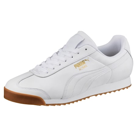 Roma Classic Gum Shoes, Puma White-Puma Team Gold, small-IND