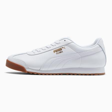 Zapatos deportivos Roma Classic Gum para hombre, Puma White-Puma Team Gold, pequeño