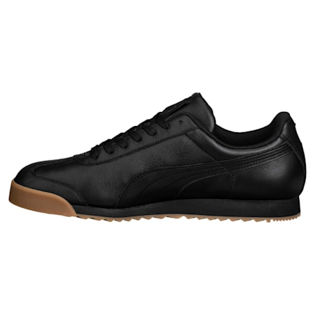 Roma Classic Gum Shoes, Puma Black-Puma Team Gold, small-IND