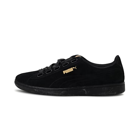 Vikky Ribbon Satin Women's Shoes, Puma Black-Puma Black, small-IND