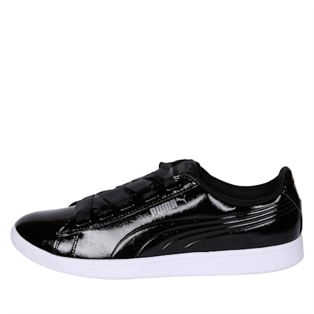Vikky Ribbon Patent Women's Shoes, Puma Black-Puma Black, small-IND