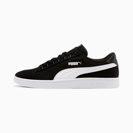 PUMA Smash v2 Canvas Men's Sneakers, Puma Black-Puma White, small