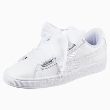 Basket Heart Oceanaire pour femme, Puma White-Puma White, small