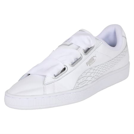 Basket Heart Oceanaire Women's Shoes, Puma White-Puma White, small-IND