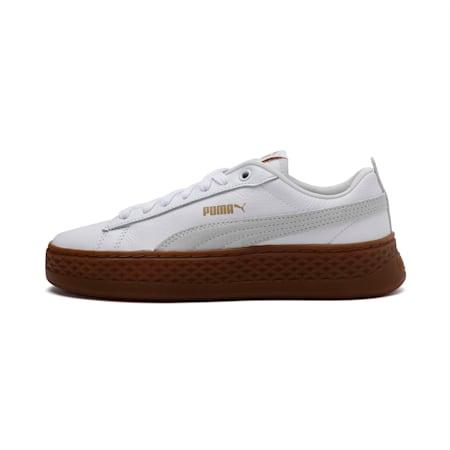 PUMA Smash Platform SoftFoam Women's Sneakers, Puma White-Puma White, small-IND