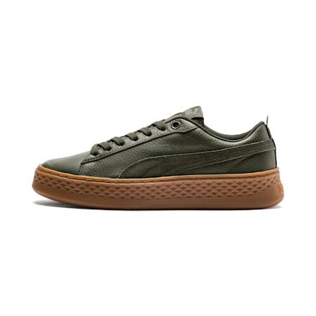 PUMA Smash Platform SoftFoam Women's Sneakers, Forest Night-Forest Night, small-IND