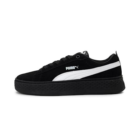 Smash Platform Suede Women's Shoes, Puma Black-Puma White, small-IND