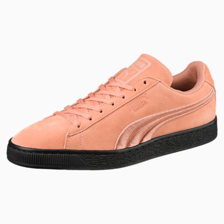 Suede Classic Badge Flip Sneakers, Muted Clay-Puma Black, small