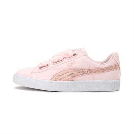 Basket Heart Canvas Wn's, Pearl-Puma White-Rose Gold, small-IND