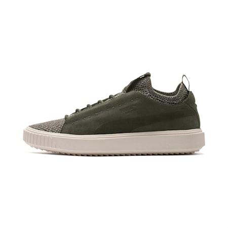 PUMA Breaker Knit Baroque Evolution Sneakers, Forest Night-Whisper White, small