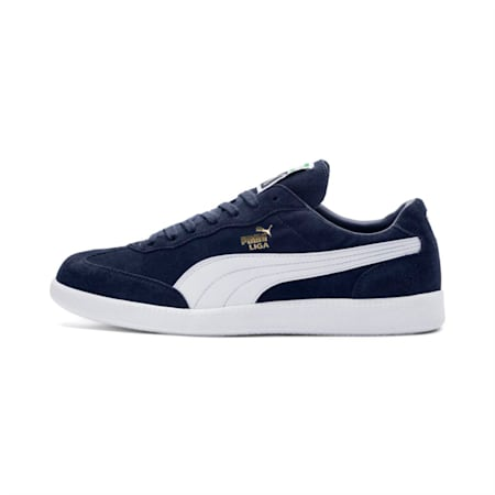 Liga Suede Shoes, Peacoat-Puma White, small-IND