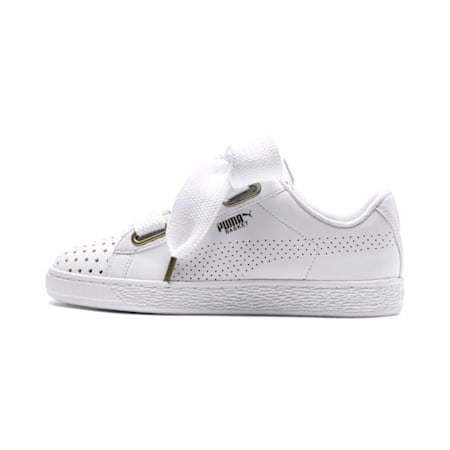 Basket Heart Ath Lux Women's Shoes, Puma White-Puma White, small-IND
