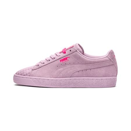 Suede Classic Street 2 Women's Shoes, Wins Orchid-Puma Aged Silver, small-IND