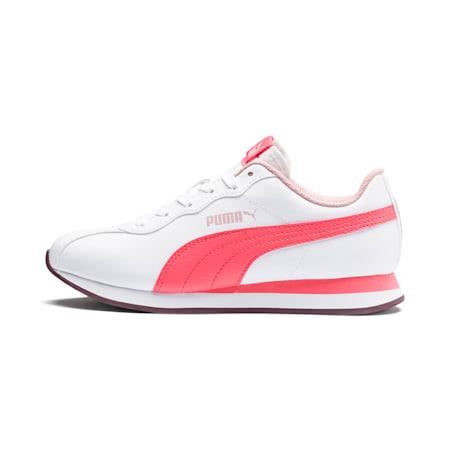 Turin II Sneakers JR, Puma White-Calypso Coral, small
