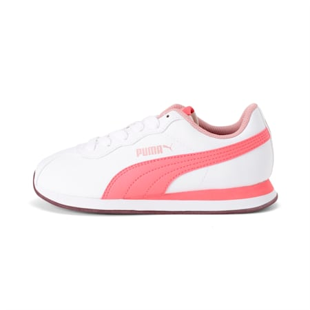 Turin II AC Kids' Shoes, Puma White-Calypso Coral, small-IND