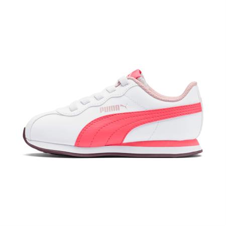 Turin II AC Little Kids' Shoes, Puma White-Calypso Coral, small