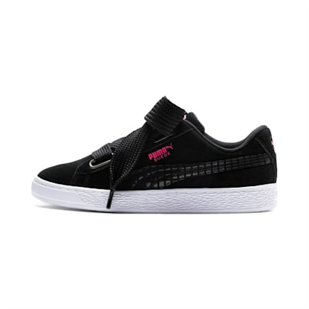 Suede Heart Street 2 Women's Shoes, Puma Black-Puma Black, small-IND
