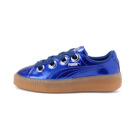 Basket Platform Kiss Anodized Jr Fig-Pum, Sodalite Blue-Puma Silver, small-IND