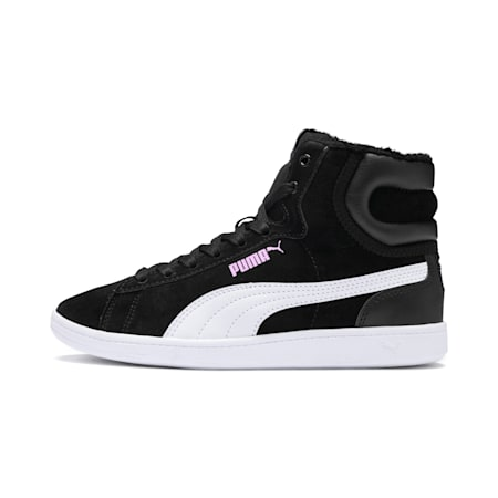 Vikky Mid Fur Mädchen High-Tops Preschool, Puma Black-Puma White, small