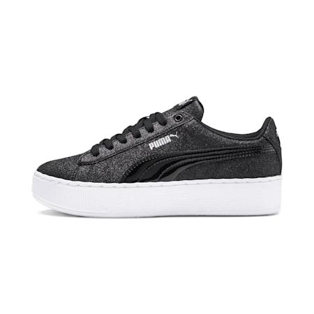 PUMA Vikky Platform Glitz Sneakers JR, Puma Black-Puma Black, small