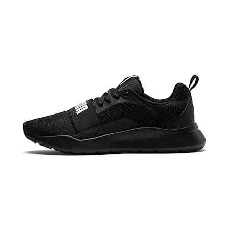 PUMA Wired IMEVA Kids' Shoes, Puma Black-Puma Black- Black, small-IND