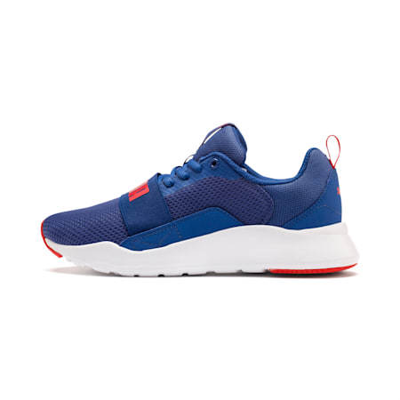 PUMA Wired IMEVA Kids' Shoes, Galaxy Blue-High Risk Red, small-IND