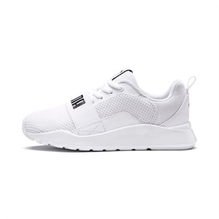 PUMA Wired Little Kids' Shoes, Puma White-Puma White-White, small