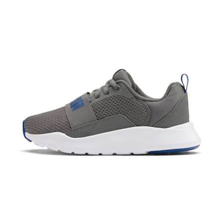 PUMA Wired SoftFoam+ Kids' Shoes, CASTLEROCK-Galaxy Blue, small-IND