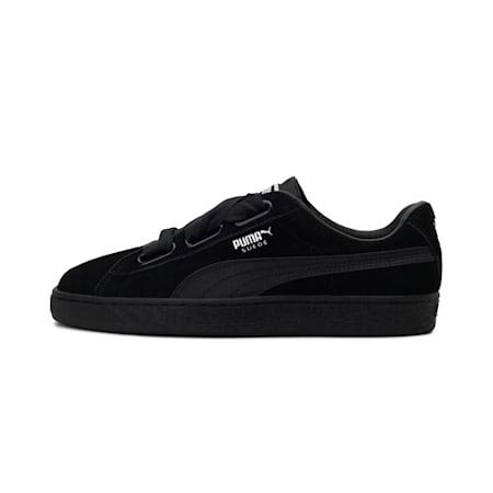 Suede Heart En Pointe Sneakers, Puma Black-Metallic Beige, small-IND