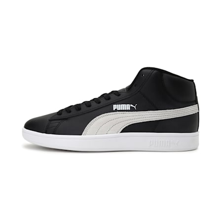 Smash v2 Mid-Cut Shoes, Puma Black-Puma White, small-IND