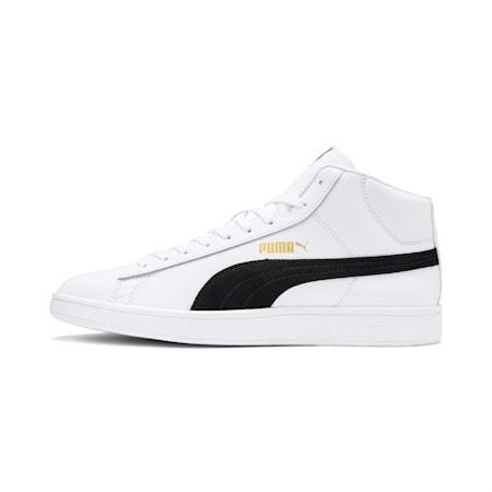 Smash v2 Mid-Cut Sneaker, White-Black-Gold-High Rise, small