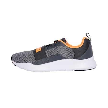 Wired Knit Shoes, Puma Black-Orange Pop, small-IND