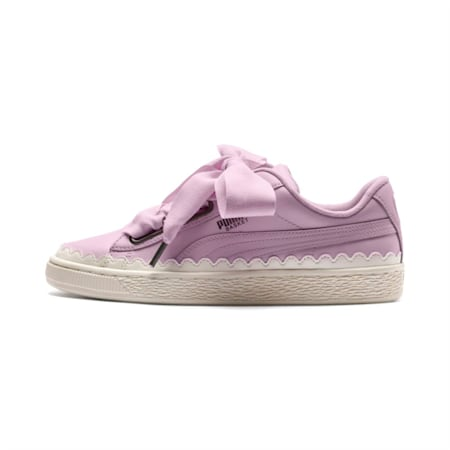 Basket Heart Scallop Women's Shoes, Winsome Orchid, small-IND