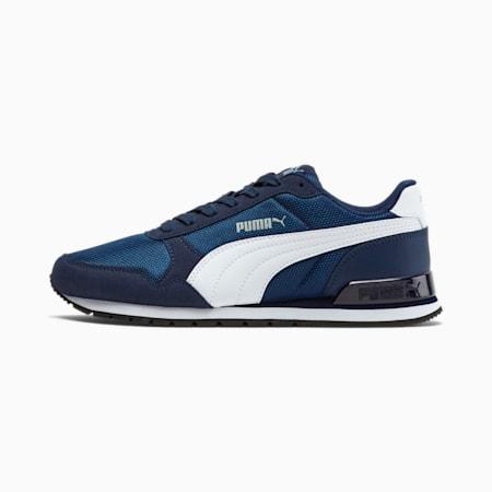 ST Runner v2 Mesh Sneakers JR, Peacoat-Puma White, small