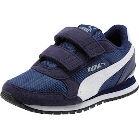 ST Runner v2 Mesh AC Little Kids' Shoes, Peacoat-Puma White, small