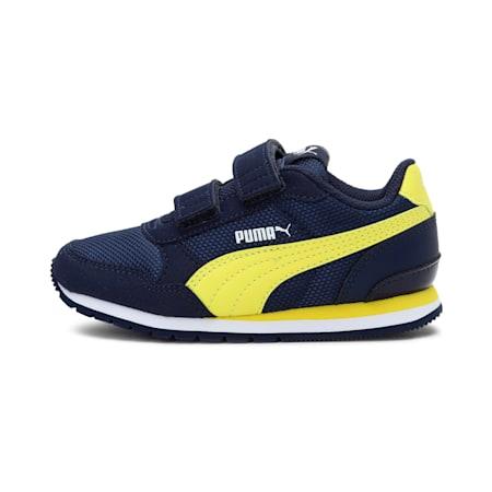 ST Runner v2 Mesh AC Little Kids' Shoes, Peacoat-Meadowlark-Puma Whi, small-IND