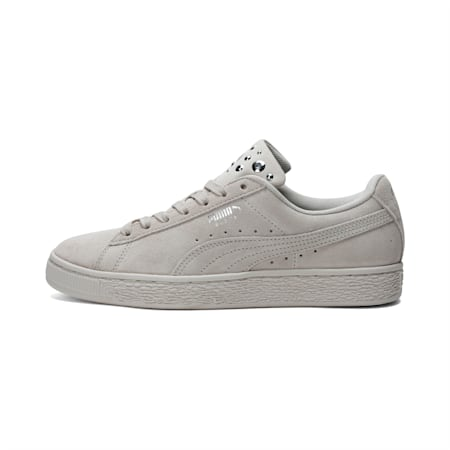 Suede Jewel Women's Sneakers, Birch-Puma Silver, small-IND