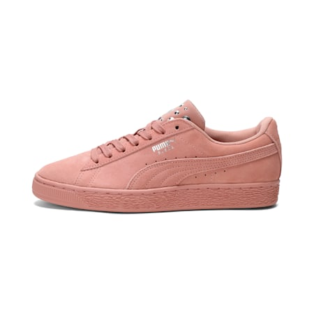 Suede Jewel Women's Sneakers, Peach Beige-Puma Silver, small-IND