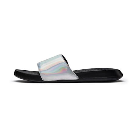 Popcat Chrome Sandals, Puma Black-Silver, small-SEA