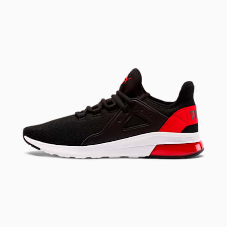 Electron Street Men's Sneakers, Puma Black-High Risk Red, small