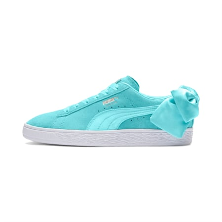 Suede Bow Women's Sneakers, Island Paradise, small