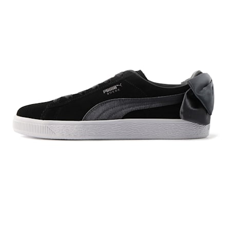 Suede Bow Women's Sneakers, Puma Black-Iron Gate, small-IND