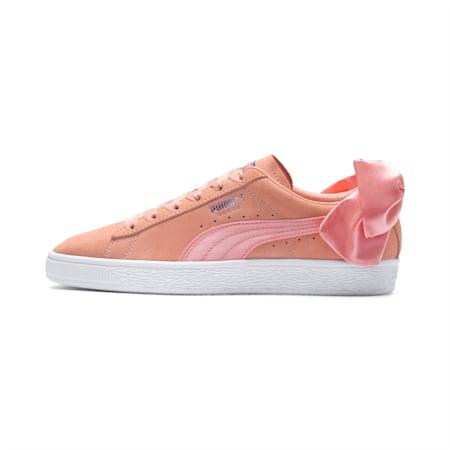 Suede Bow sportschoenen voor dames, Peach Bud-Puma White, small