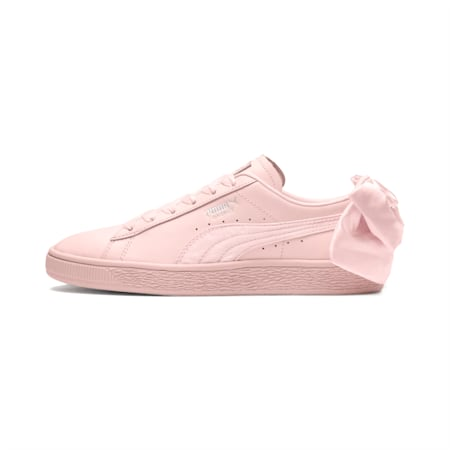 Basket Women's Bow Sneakers, Pearl-Pearl, small