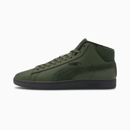 Smash v2 Mid Winterized Leather High Tops, Thyme-Thyme-Bla-Dark Shadow, small