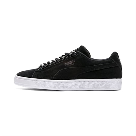 Suede Classic Chains Women's Shoes, Puma Black-Puma Aged Silver, small-IND