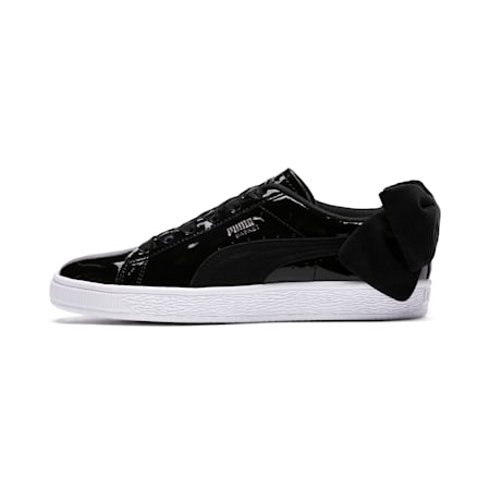 Basket Suede Bow Women's Shoes, Puma Black-Puma Black, small-IND